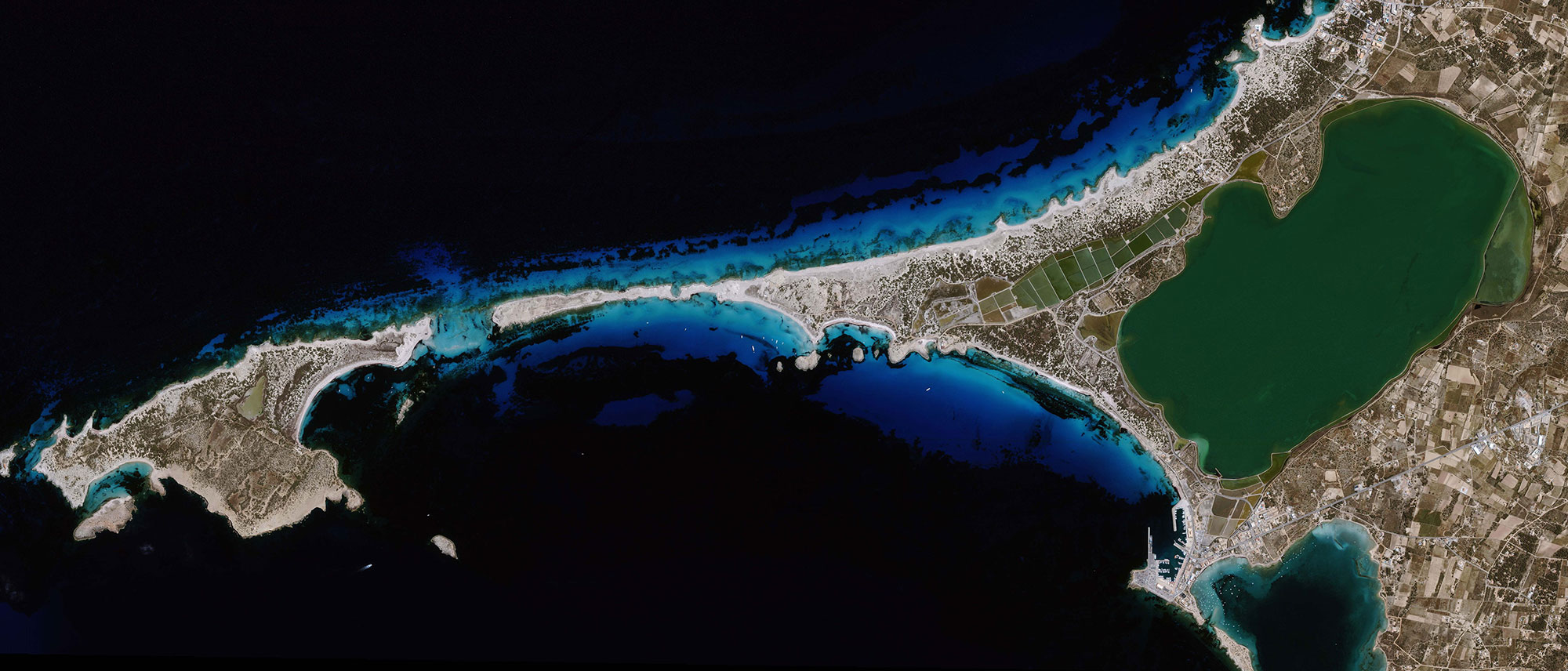 Satellite data analysis imagery images