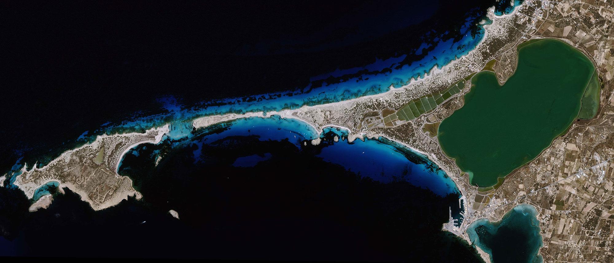 Satellite data analysis imagery images